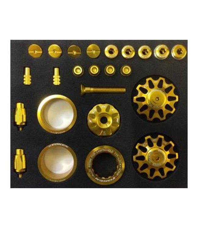 Token Bicycle Bling Kit Gold Shimano 11 Tooth