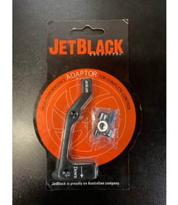 Jet Black 180 Rear Disc adapter IS to PM
