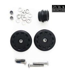Brompton Brompton Eazy Wheel Rollers With Fittings - 5mm Holes (Pair)