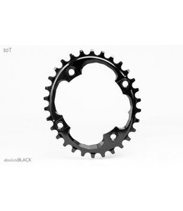 Absolute Black Absolute Black Oval Chainring Narrow Wide 94BCD x 30 tooth Black