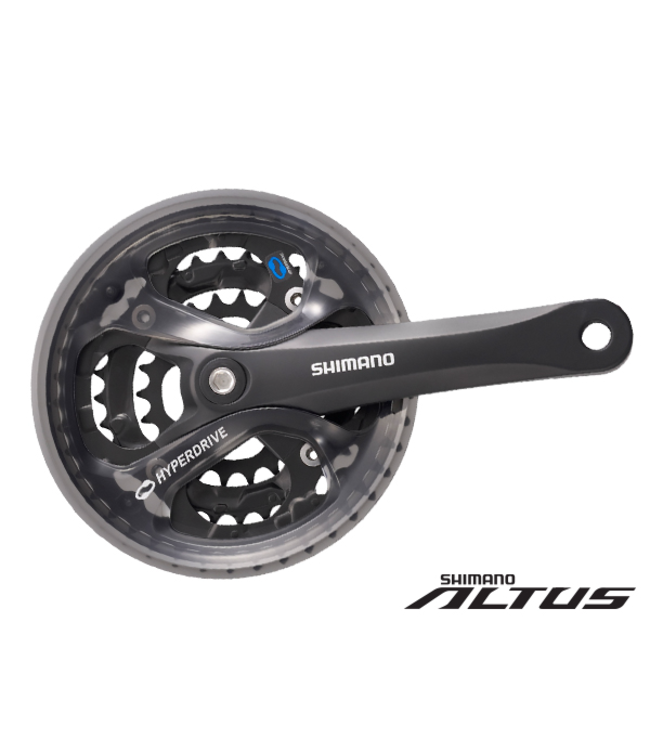 Shimano Shimano Crankset FC-M361 175mm 42/32/22 w/Guard Black