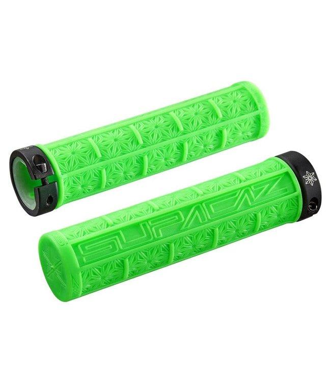 Supacaz Supacaz Grips Grizips Neon Green Clear