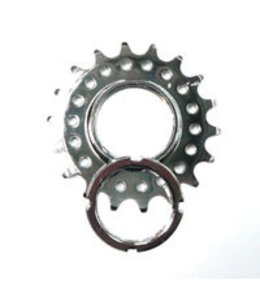 Bikelane Fixed Cog Screw On CroMo 1/8 x 18T Silver