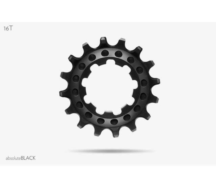 Absolute Black 16T Single Speed Cog Cog Absoluteblack 16t Single Spd Cass Bk