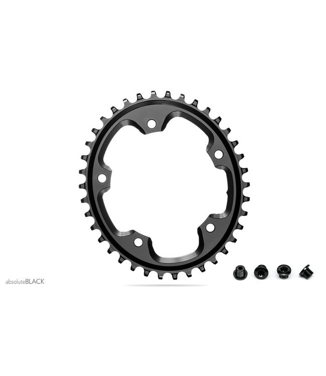 Absolute Black Absolute Black Chainring Oval CX 1X 110mm 5Bolt 42T Black