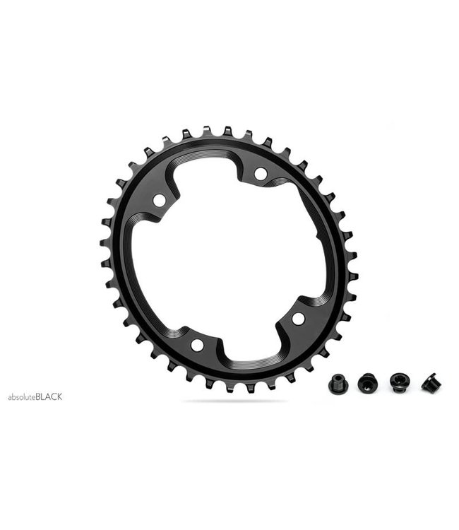 Absolute Black Absolute Black Chainring Oval CX 1X 110mm 4Bolt 42T Black