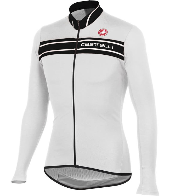 Castelli Prologo 3 Jersey Long Sleeve White/Black 001 XL