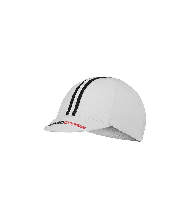 Castelli Cap Rosso Corsa White/Black 101