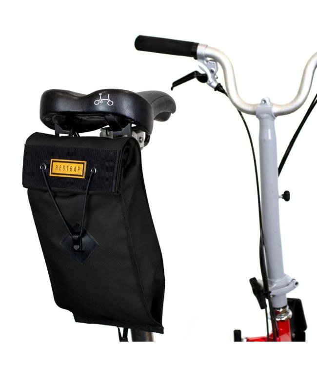 Restrap Restrap City Saddle Bag Large Black Folding Bike