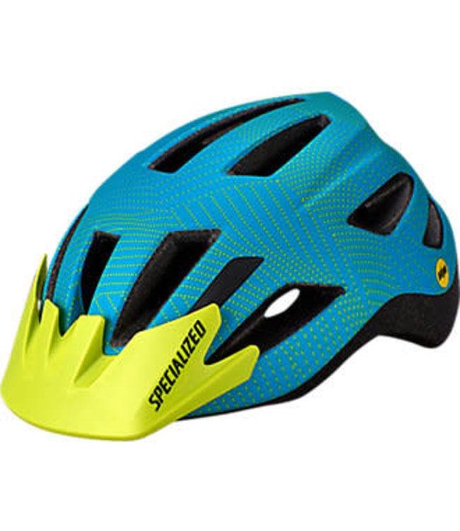 Specialized Helmet Specialised Shuffle LED SB Mips Aqua/Hyper Green Dot Plane