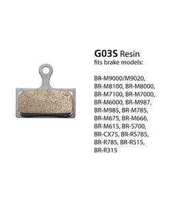 Shimano Shimano G03S Disc Brake Pads  for BR-M7000 Resin Pad & Spring