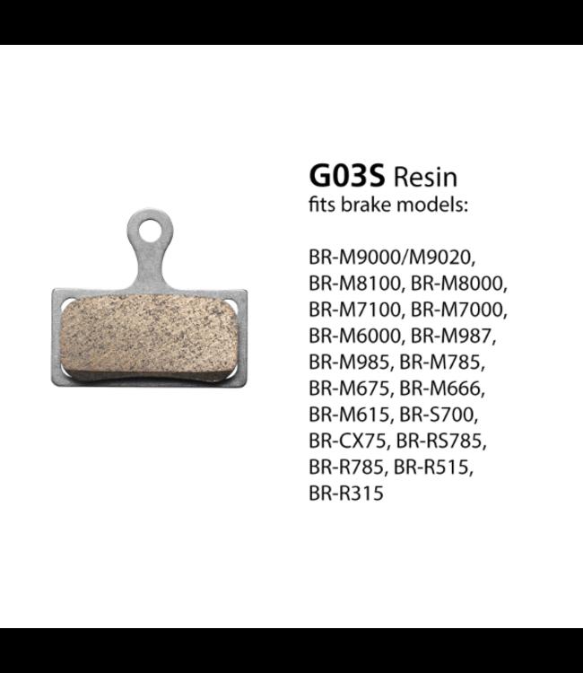 Shimano Shimano G03S Disc Brake Pads  for BR-M7000 Resin Pad & Spring