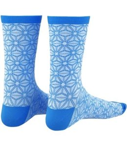 Supacaz Supacaz Sock Asanoha White Blue L/XL