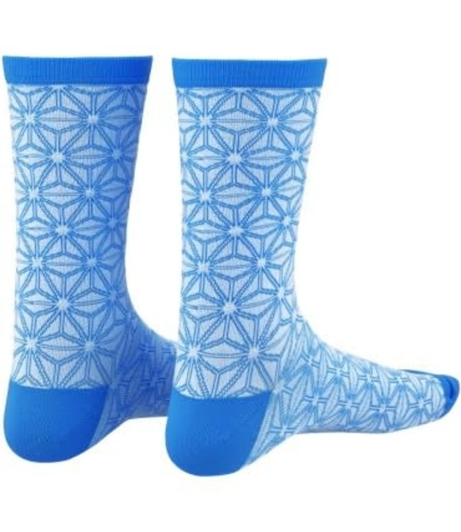 Supacaz Supacaz Sock Asanoha White Blue L/XL