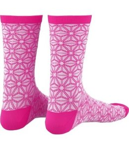 Supacaz Supacaz Sock Asanoha White and Pink SM/MD