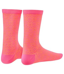 Supacaz Supacaz Sock Asanoha Neon Pink Orange SM/MD
