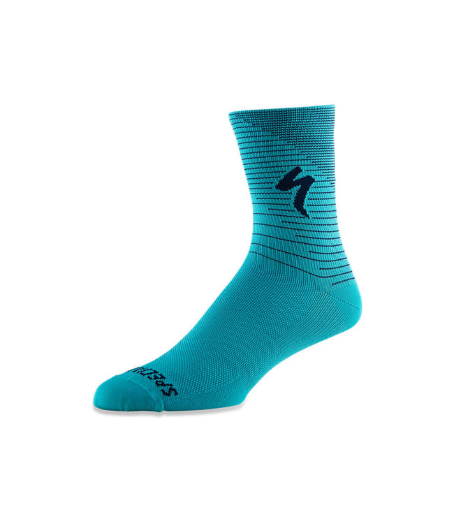 Specialized Specialized Sock Soft Air Tall Aqua/cast Blue Arrow