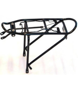 BPW Rack Rear with Spring for 16 inch bike Alloy Black