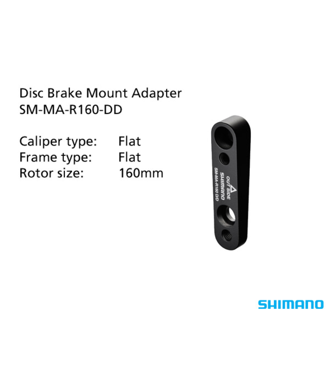Shimano Shimano Disc Mount Adaptor SM-MA-R160-DD Black 160mm