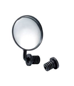 "Coloury Mirror 3"" Round - Angle Adjustable 360 Black"
