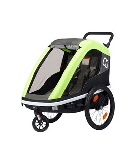 Hamax Hamax Avenida Child Trailer for Two Lime