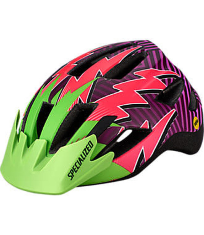Specialized Specialized Helmet Shuffle MiPS LED SB Monster Green Acid Pink Lightning   Child