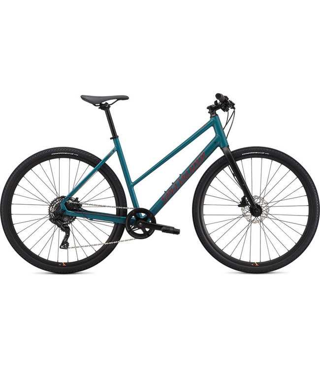 Specialized Specialized Sirrus X 2.0 Step Through Dusty Turquoise/ Black/ Rocket Red