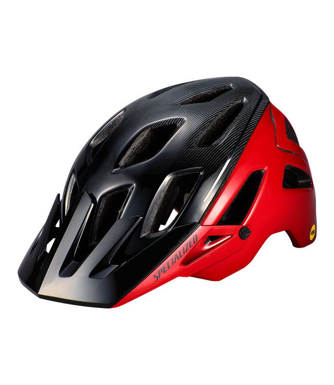 Specialized Specialized Ambush Helmet Angi Mips Flo Red Black Refraction Small