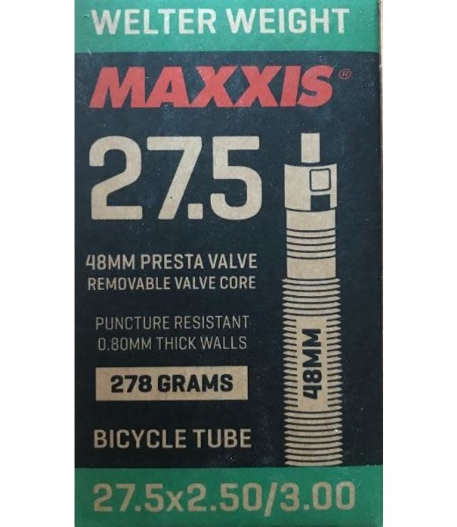 Maxxis Maxxis Welterweight Tube 27.5 x 2.5/3.0 Presta Valve 48mm