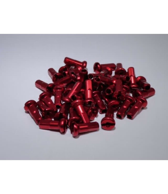 Red Alloy Spoke Nipple 14g (each)