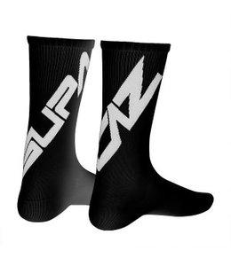 Supacaz Supacaz Socks Black White Med
