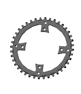 Specialized Praxis chainring MY17 Vado 40T 104 BCD Black