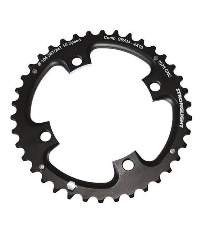 Stronglight Chainring SRAM XO 2x10 36T 104mm BCD Black