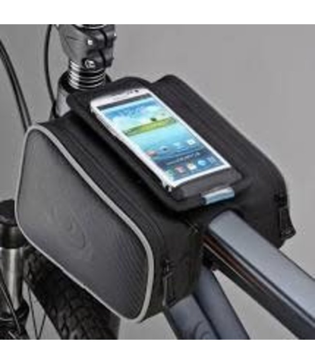 ride support Ride Support Top Tube Phone Bag Large Black