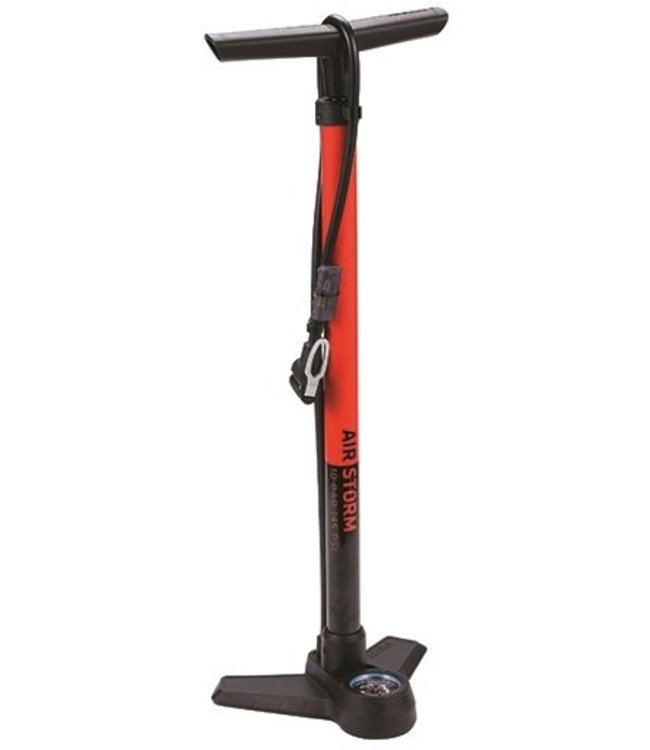 BBB BBB Airstorm Floor Pump Alloy Black/Red