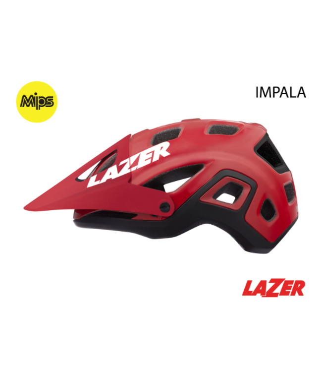 Lazer  Impala Helmet Red Large MIPS