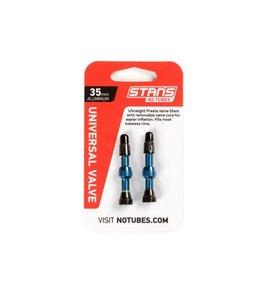 Stans No Tubes Valve Tubeless Valve Stem 35mm, Pair Blue
