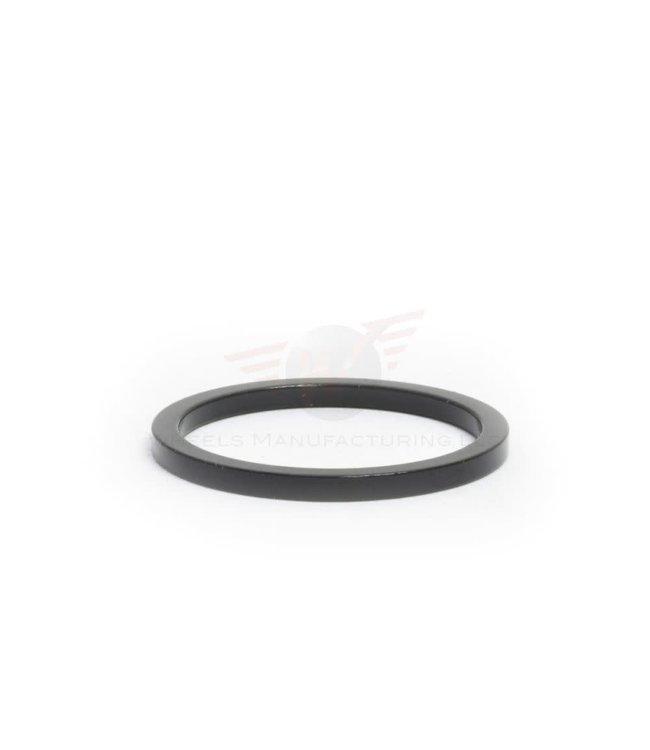 """Wheels Manufacturing Wheels Manufacturing Headset Spacer Black Aluminium 1-1/8""""  2.5mm (each)"""