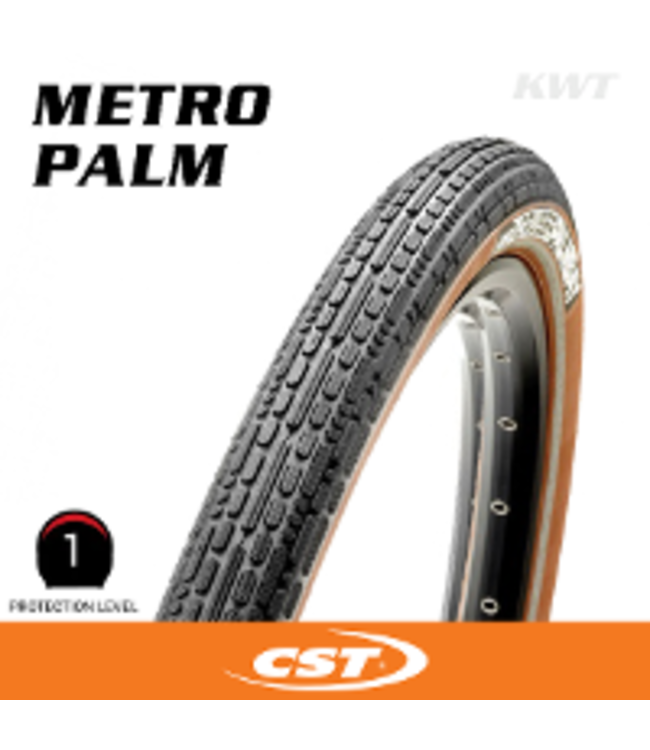 CST Tyre  Metro Palm 700 x 40 Black Wirebead Brown Sidewall