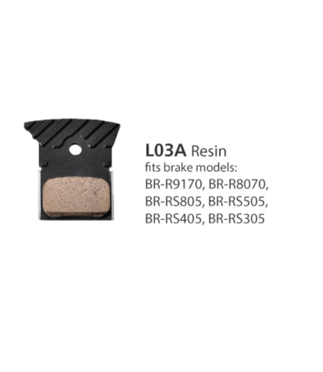 Shimano Shimano Disc Pads BR-R9170 Resin L03A w/fin and spring