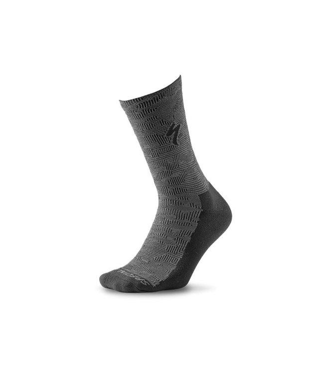 Specialized Specialized Sock Primaloft Lightweight Tall Black/Charcoal Terrain