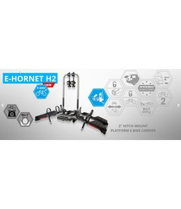 Buzzrack Buzzrack E-Hornet 2H for 2 bike hitch
