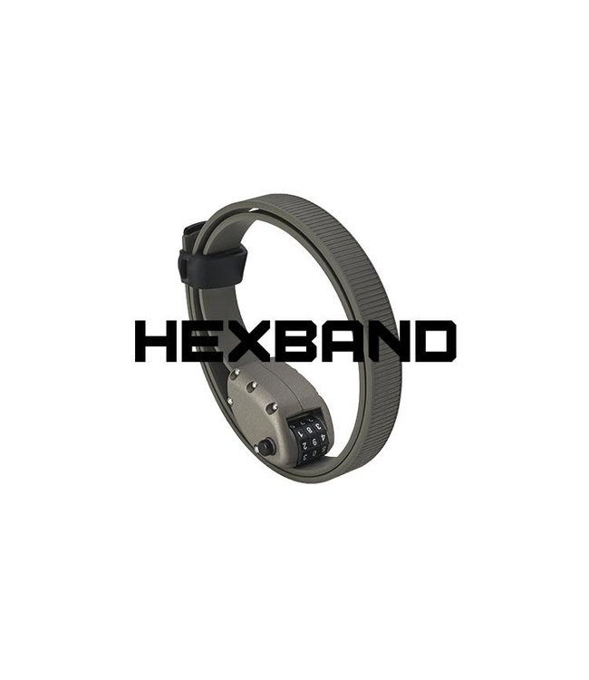 """Ottolock Ottolock Hexband Combination Lock 60"""" Grey"""