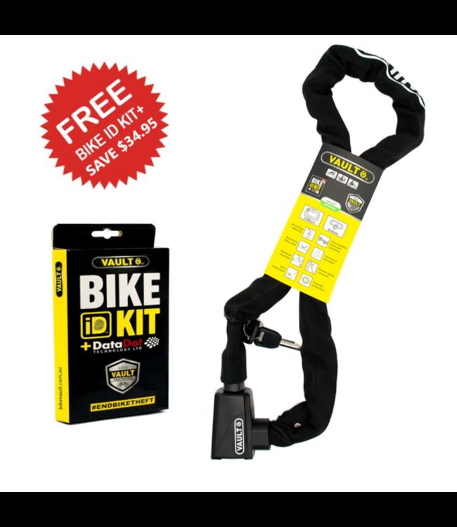 Vault Vault Chain Lock + DataDot Bike ID Kit