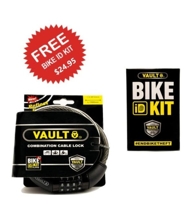 Vault Vault Combination Cable Lock 1500mm +  Bike ID Kit