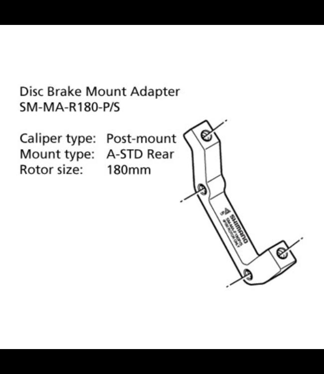 Shimano Shimano Post Mount Adapter SM MA R180mm PS