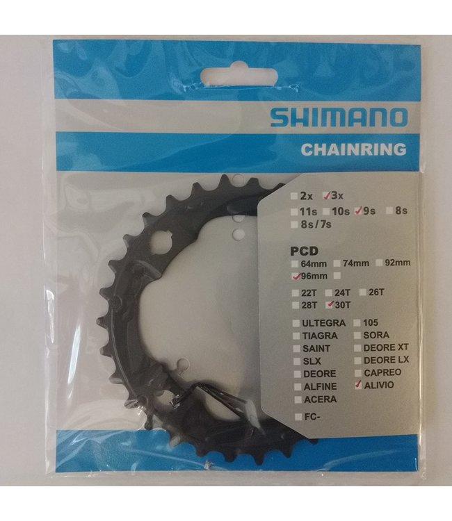 Shimano Shimano Alivio Chainring 9speed Triple 30T 96BCD