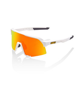 100% 100% Sunglasses S3 White Hiper Red Multilayer Mirror Lens