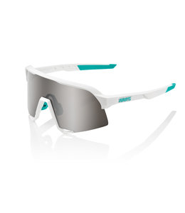 100% 100% Sunglasses S3 Bora Team White Hiper Silver
