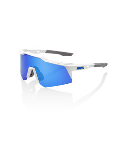 100% 100% Sunglasses Speedcraft XS M White Blue Mirror